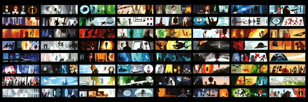 The Incredibles Color Script