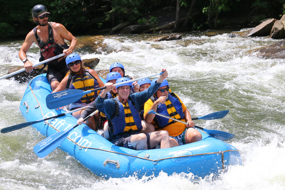 Whitewater rafting on the Olympic rated Ocoee River with RaftOne of Ducktown, TN