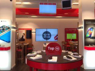 Una tienda de Vodafone.
