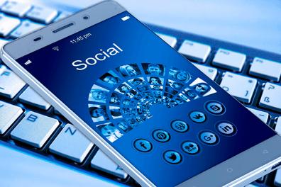 Redes Sociales en el móvil.