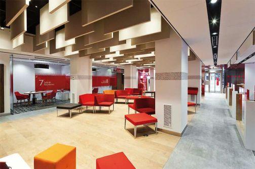 Sucursal Santander Smart Red.