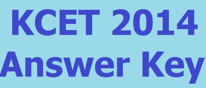 KCET Answer Key 2014 Available Download Now