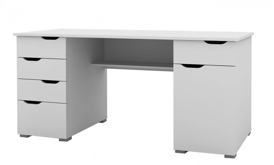 Desklink Alphason Kentucky White Computer Desk Aw1374wh
