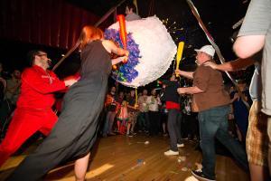 Kid Power! contibutor, Zack Carlson, gets a piñata ride.