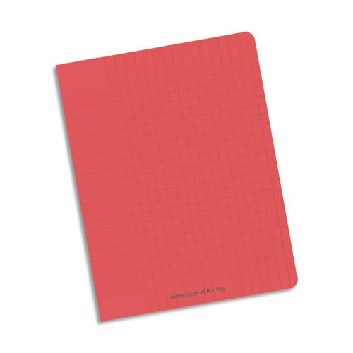 cahier scolaire rouge ecriture reglure seyes