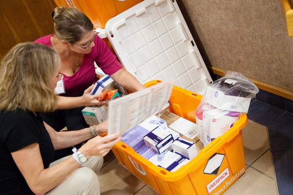 Each U.S. Hurricane Preparedness Pack holds enough medical supplies to treat 100 patients for a variety of conditions, from basic trauma injuries to chronic illnesses, for a 72-hour period.