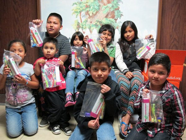 Children who attended the dental clinic each took home dental kits to maintain their healthy smiles.