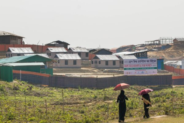 Medical tents provided by BareBones will serve as a field hospital, allowing Rohingya refugees to receive care closer to where they live. (Photo by Rajib Dhar for Direct Relief)