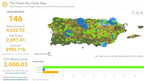 Click on the map above to explore solar power projects installed across Puerto Rico following Hurricane Maria.