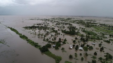 Floodwaters had already inundated the Zambezia Province of  Mozambique earlier this week, prior to Cyclone Idai making landfall Thursday evening. Officlals are working to get a clearer picture of the storm's damage, and the response required. (Photo courtesy of Zambezia Health Department)