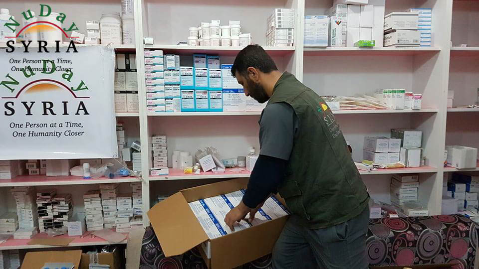 Much-needed medications and supplies arrived at NuDay Syria in March 2019. The shipment was sent to support the organization's mission to provide essential resources, like healthcare, to displaced communities in Syria and neighboring countries. (Photo courtesy of NuDay)