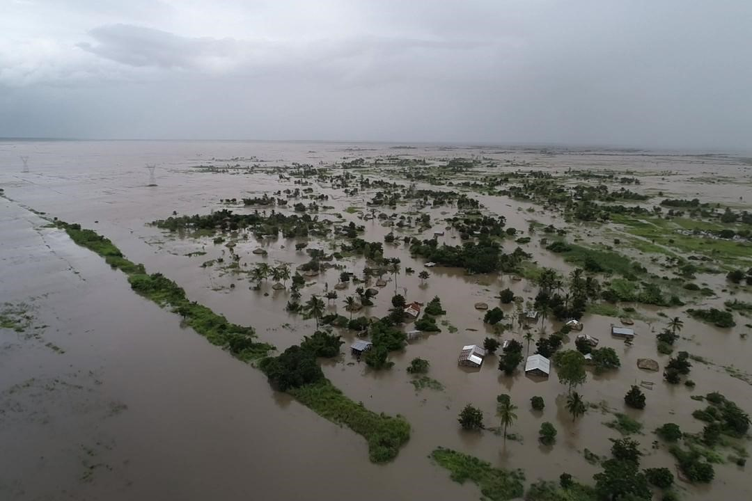 Floodwaters had already inundated the Zambezia Province of Mozambique, prior to Cyclone Idai making landfall in March evening. (Photo courtesy of Zambezia Health Department)