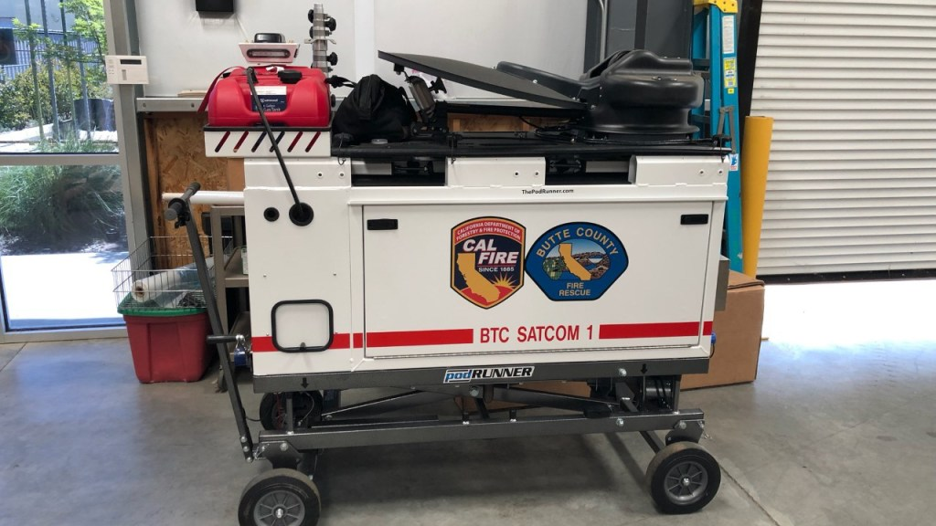 Butte County Fire Department's new satellite communcations tool (Photo Courtesy of the Butte County Fire Department)