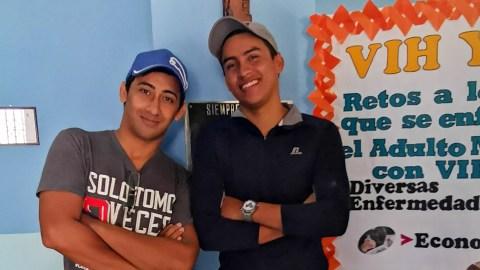 Rony Araque and Nehun Ricarte, both Siempre Unidos patients. (Photo courtesy of Siempre Unidos)