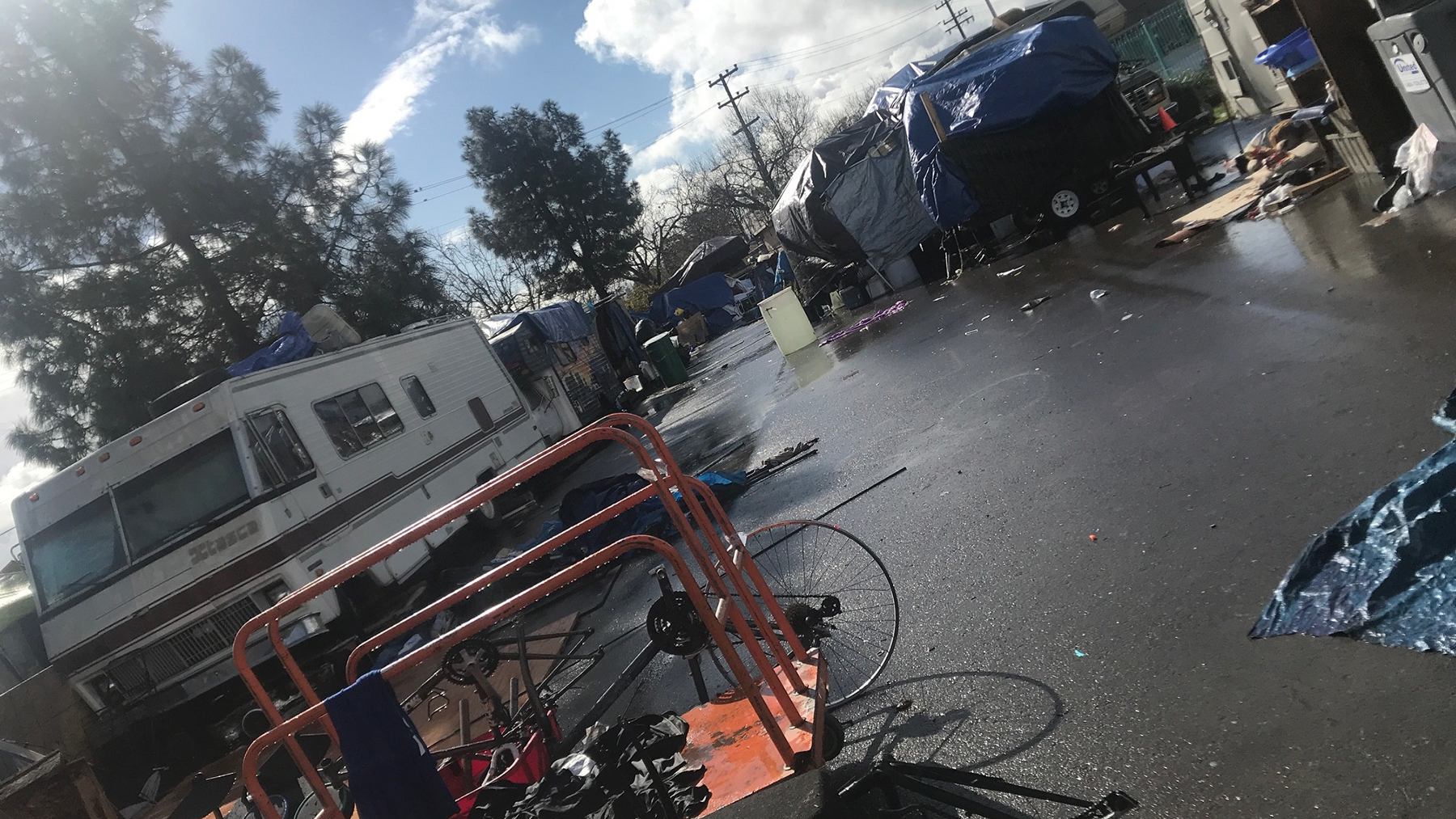 A Bay Area encampment. (Photo courtesy of Roots Community Health Center)