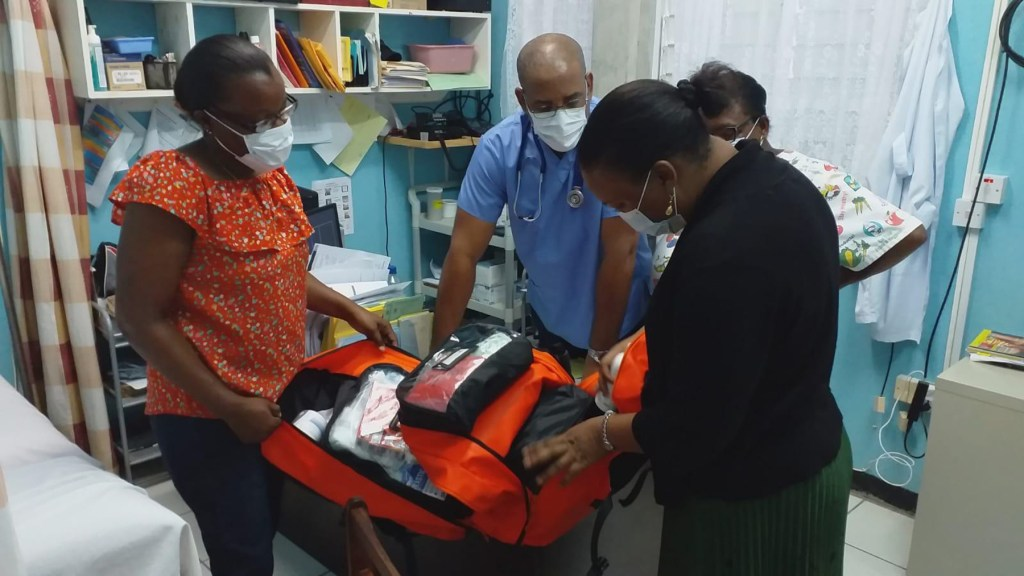 Before the Covid outbreak we sent 49 Emergency Backpacks to Dominica to equip all of the community health centers on the island, many of which are remote and vulnerable to being cutoff during storms and landslides. With PPE included in each pack, they were a welcomed addition to the HC's as they deal with Covid on the island. (Courtesy Photo)