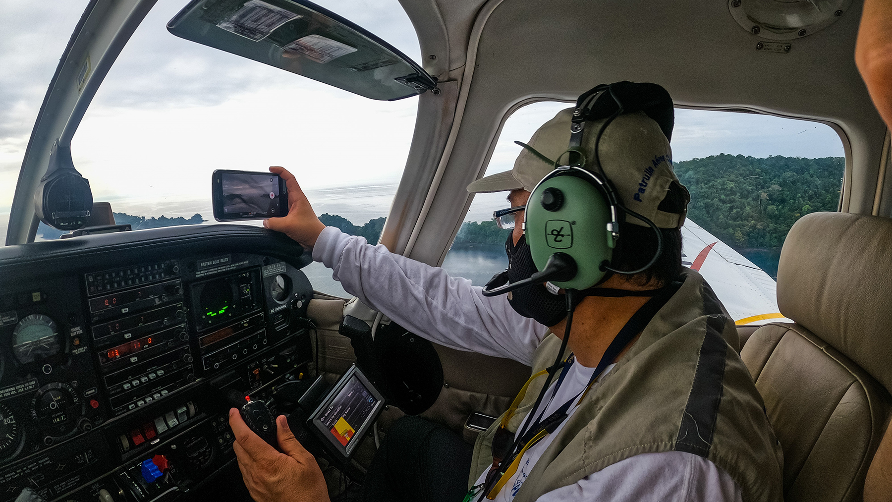 A PAC pilot mid-flight. (Photo courtesy of PAC)