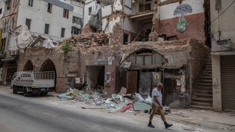 Damaged buildings and streets of Beirut, after the explosion of August 4, 2020. The explosion killed at least 200 people. Injured 6,000. (Photo by Francesca Volpi for Direct Relief)