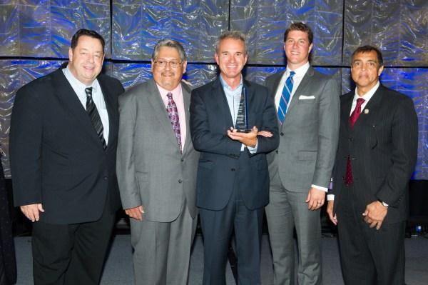 From left to right, Tom Van Coverdan, Ricardo Guzman, Thomas Tighe, Damon Taugher, Gary Wiltz M.D.
