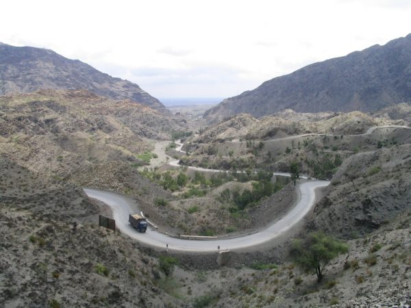 A stretch of the Khyber Pass in Pakistan, where Direct Relief's shipments passed through on the way to their destination in Kabul.