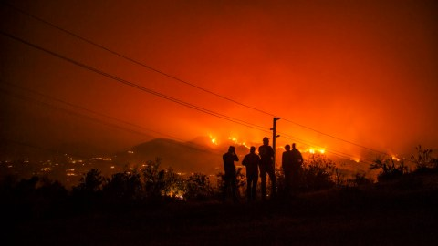 In Dec. 2017, the Thomas Fire, pictured here, scorched more than 280,000 acres . Nearly a year later, a new series of fires has broken out across the state. (Photo courtesy of Donnie Hedden)
