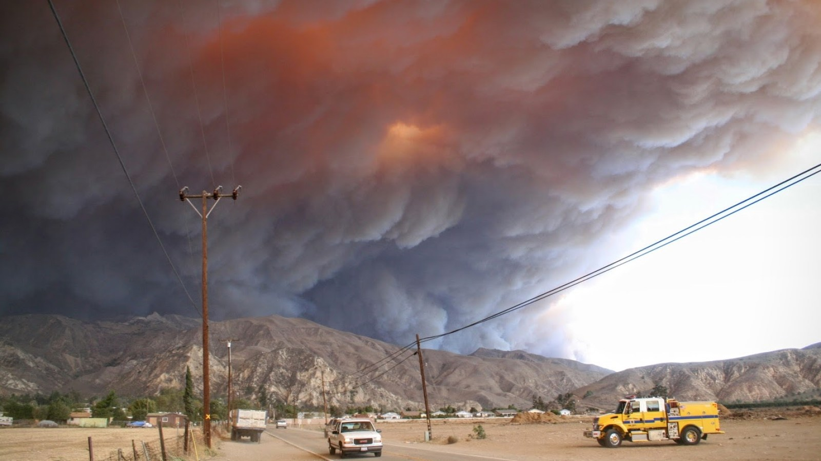 Southern California wildfires raced through San Diego. (Brett Williams/Direct Relief)