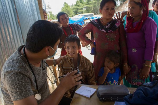 Doctor cares for patients after nepal quake