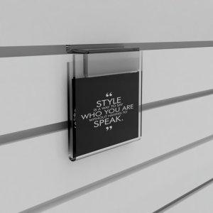 Slatwall Leaflet Dispensers