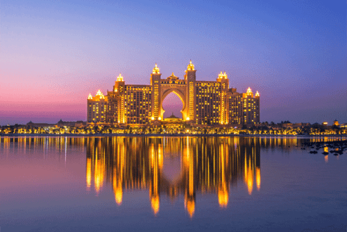 Atlantis, The Palm is a UAE hotel resort located at the apex of the Palm Jumeirah.