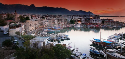 Sunset in Kyrenia Harbour - Kyrenia holidays