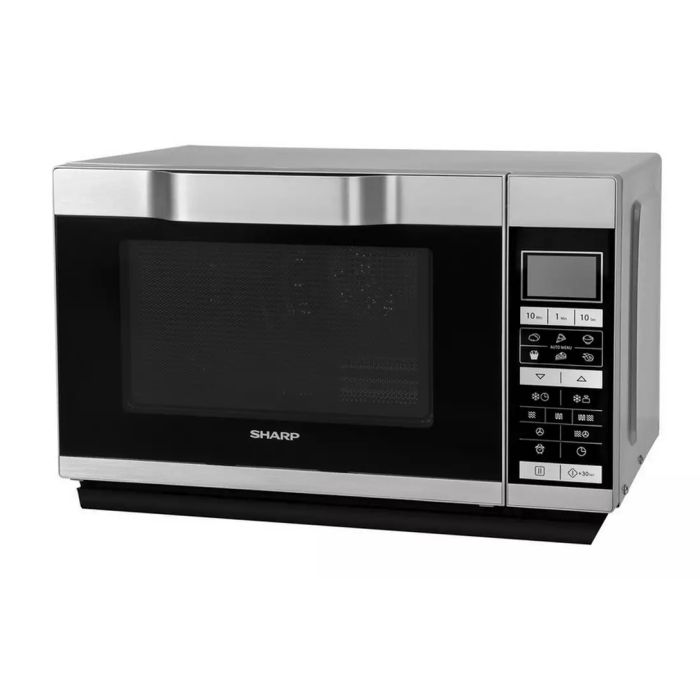 sharp r861slm new combination flatbed microwave oven with grill 25l 900w silver