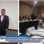 GORE y DIRESA proseguimos con las gestiones para el financiamiento del PIP Hospital Regional Guillermo Díaz de la Vega y establecimientos estratégicos de la región