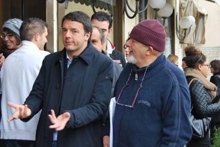 Matteo Renzi al padre
