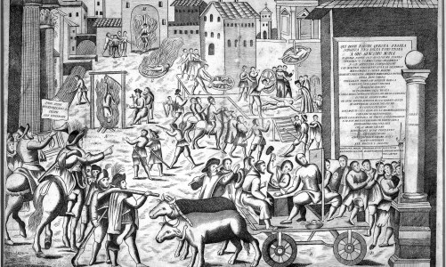 The procession against the plague