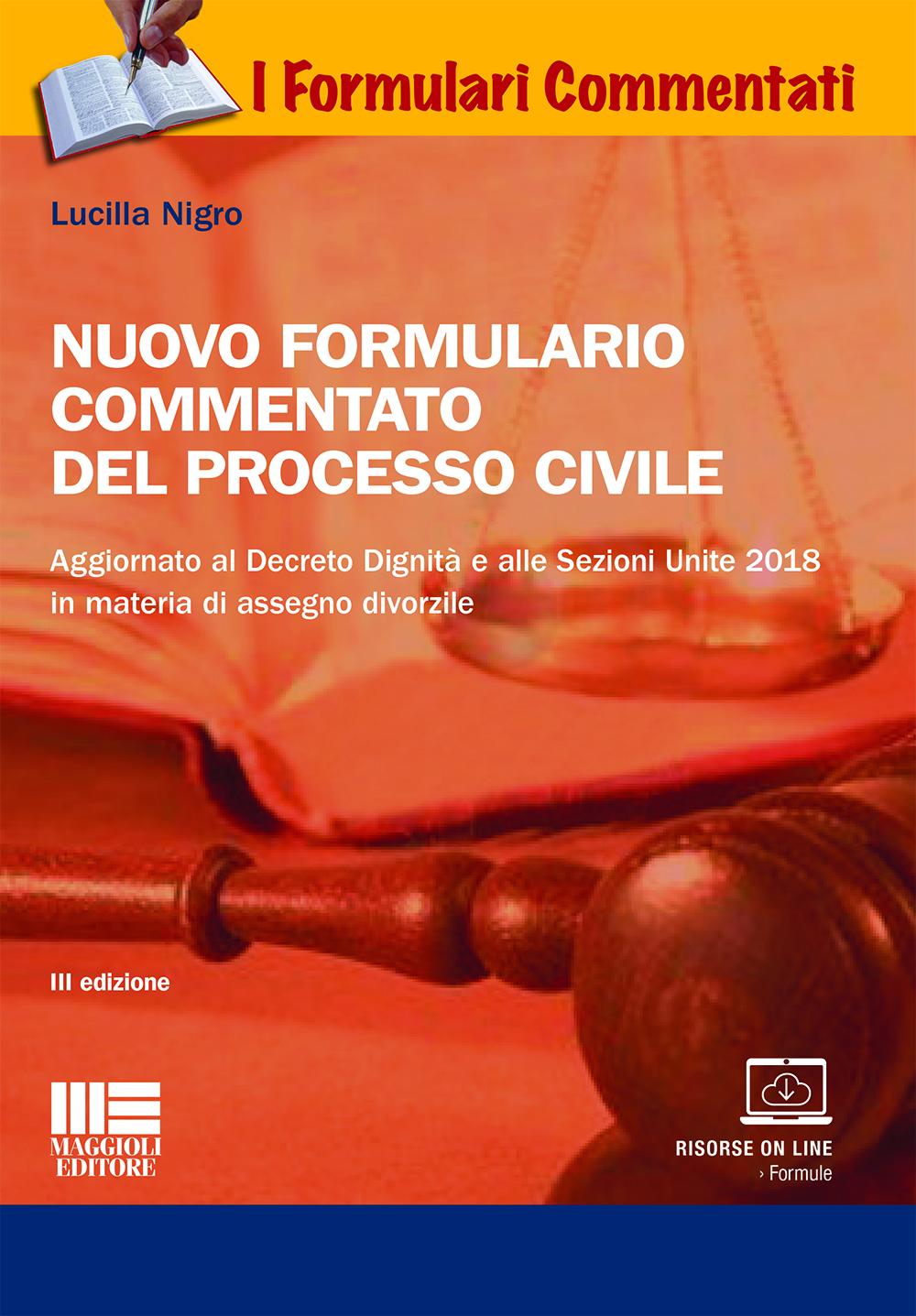 Nuovo formulario commentato del processo civile