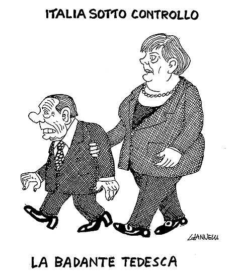 merkel berlusconi fmi Italia commissariata dal FMI (vignetta)