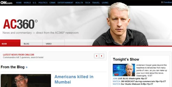 AC 360 blog design