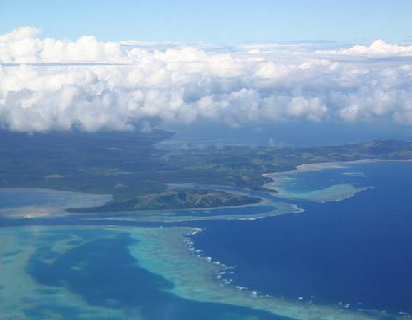 Aerial view Fiji Islands
