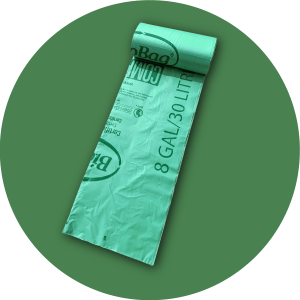 Roll of 8 gal bags, 25 count
