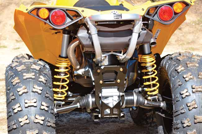 Polaris Uses Dual A Arms On The Back Of Scrambler While Can Am Relies Their Standard Trailing Arm Setup Both Systems Work Well But These