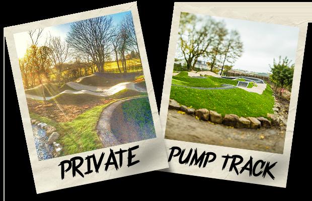 Dirtworks BMX Private Pump Track Polaroid