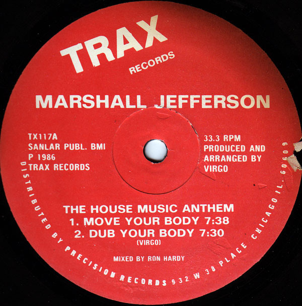 Marshall Jefferson Move Your Body red label 12 inch