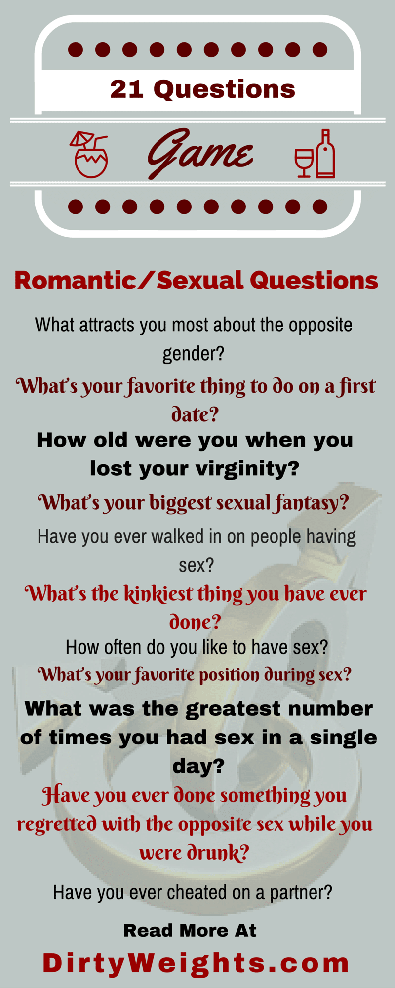 Sex questions for a game