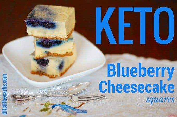 Keto Blueberry Cheesecake Squares