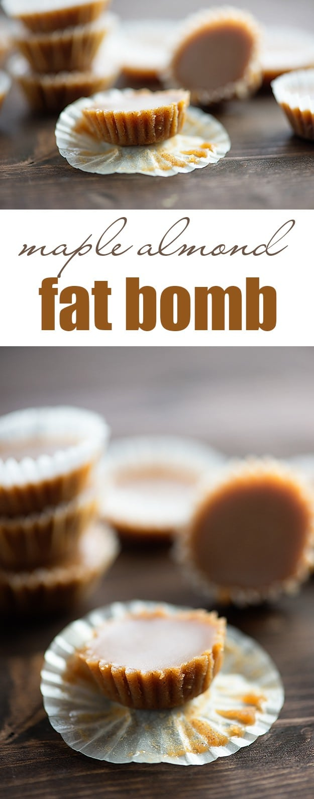 Maple Almond Fudge Fat Bombs