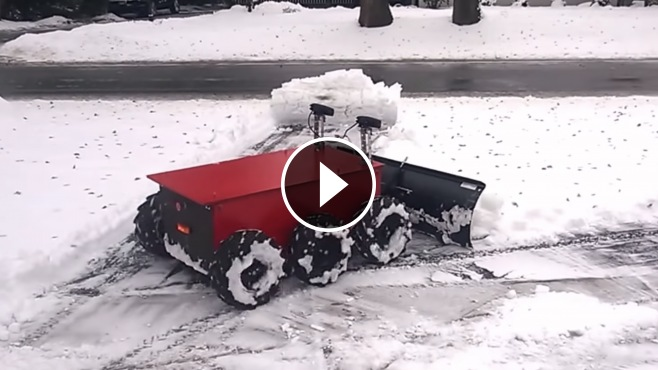 Rc Snow Plow Cleans The Driveway In Just Five Minutes