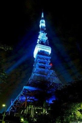 Giornata mondiale autismo Parigi in blu