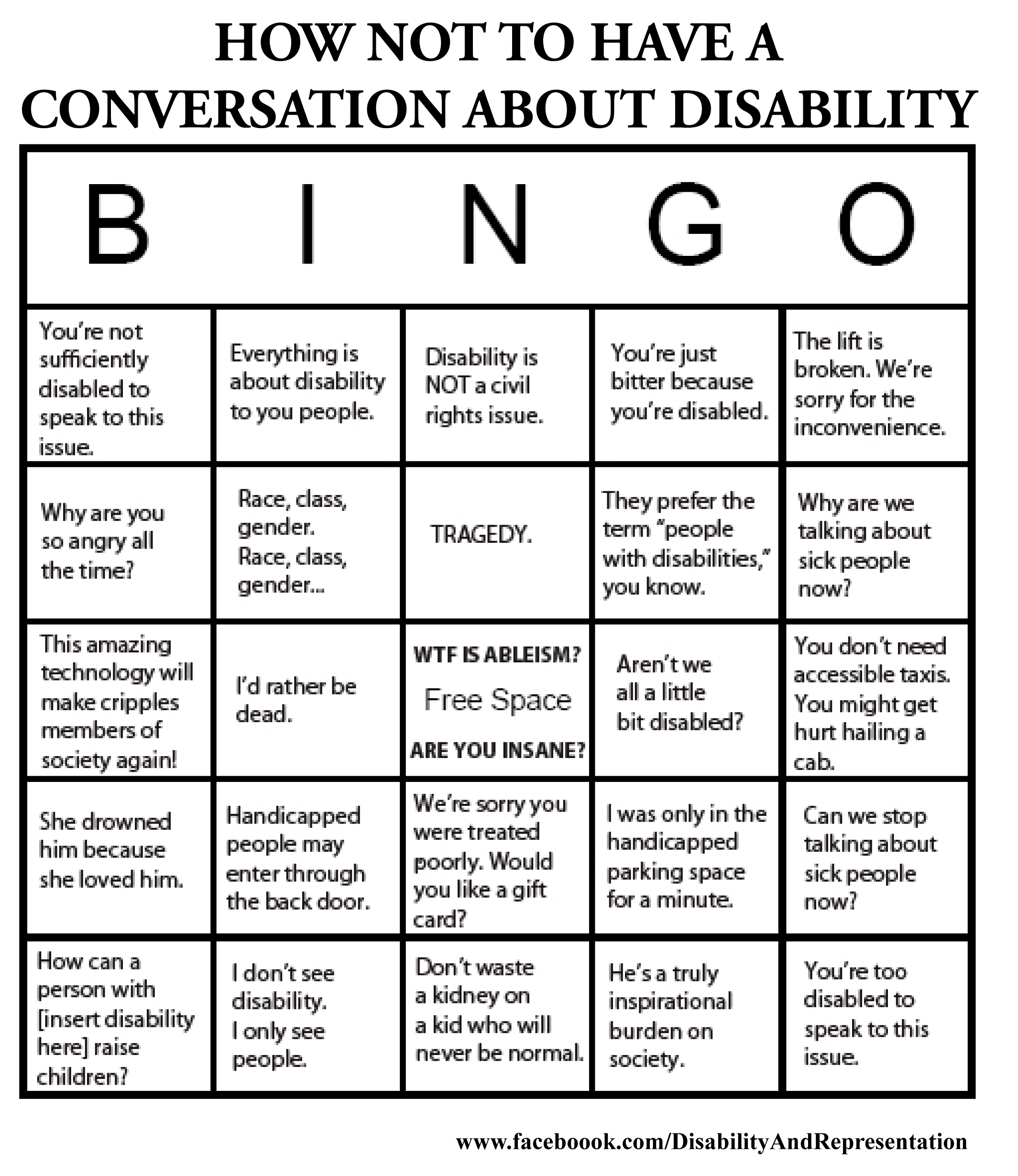 How Not To Have A Conversation About Disability