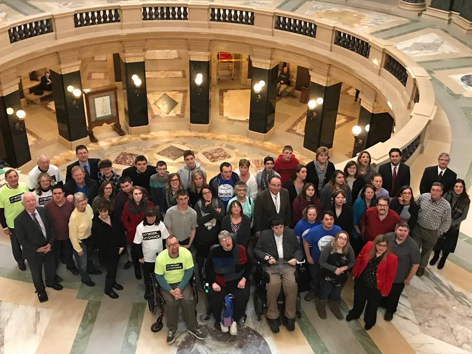 Wisconsinites and DRW testifying at the state capitol