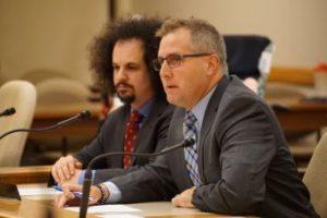 Representatives Brostoff and Zimmerman at public hearing